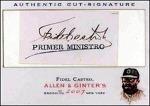 Fidel Castro Cut Signature