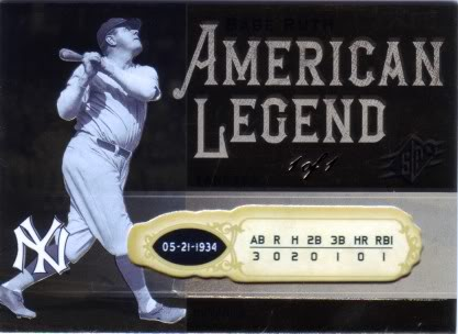 A true 1/1 - Babe, not the SPx card ...